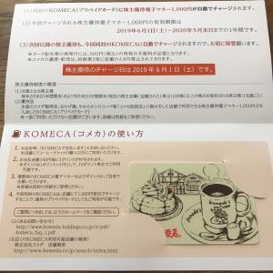【3543】コメダHDから優待カードが届きました♪