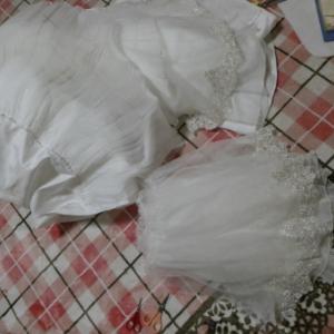 ウェディングドレス リメイク スカート解き R61