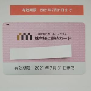 2020年 (9月期分)株主優待 (株)三越伊勢丹ホールディングス