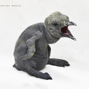 【どうぶつ】 キングペンギンの赤ちゃんが誕生!ペンギン王国1階で展示 【アドベンチャーワールド】