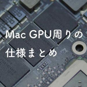 Mac GPU周りの仕様総まとめ