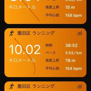 フル1W前10kmペース走