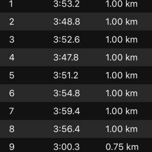 15kmペース走DNF~hassyさんサブスリーおめでとう!
