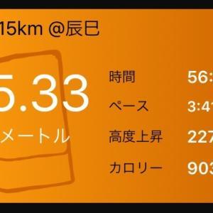 【結果】2W前15km走