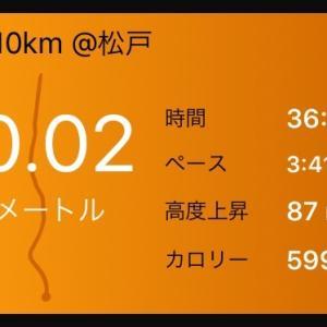 フル1W前10km~コース試走
