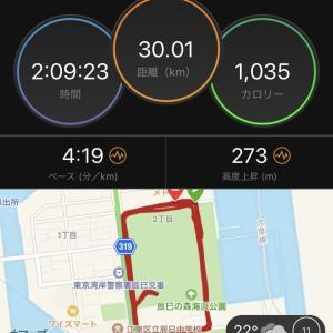 5週連続30km走