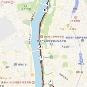 隅田川沿いジョグ