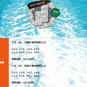 【三国•児島】〝競艇道〟の無料予想!口コミと検証!《7月28日》