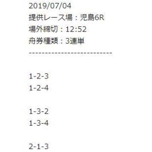 【インサイド】無料予想 2019年07月04日