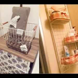 【DIY】洗面所のお洒落でかわいい収納アイデア♡~Cute storage idea in a washroom fashionable.