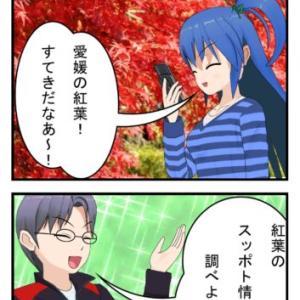 愛媛の紅葉の穴場はどこ?|10月上旬に色づき始めるかも!