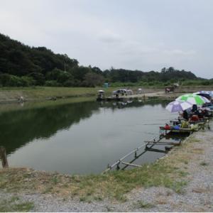 菊鮒会 in 小山養魚場大池