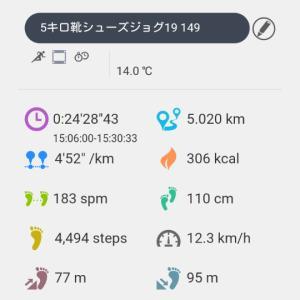 12月18日~5キロ靴シューズジョグ19 149