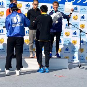 マラソン笹田トレーナー優勝しました!