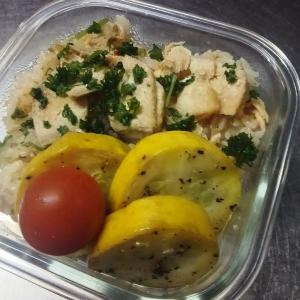 トマトと鮭の炊き込みご飯レシピ