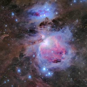 冬の王様 オリオン大星雲 LRGB合成