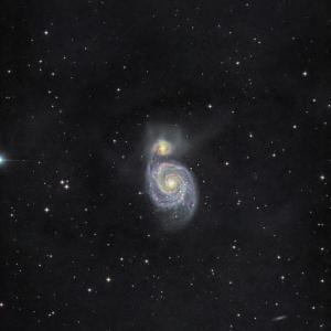 光害地から執拗に銀河を狙う、、M51 ASIAIR Pro編