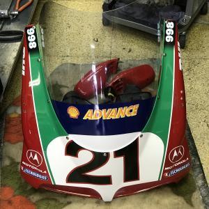Ducati998S Bayliss ウィンドスクリーンとメーターバックライト交換