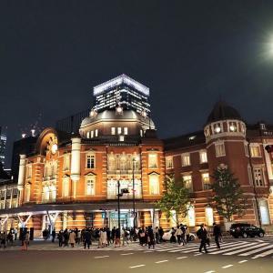 KITTEから撮影した東京駅の夜景