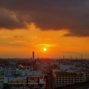 癒される夕陽