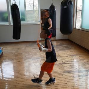 ボクシングで良い汗流して、ストレス発散スッキリ表情に変わりました❗️