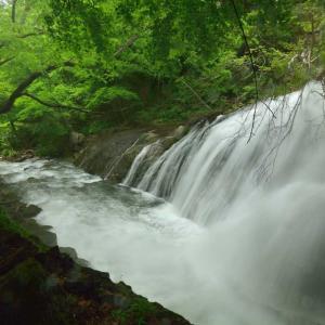 白河市大信、大信不動滝も昨秋の雨被害か‥
