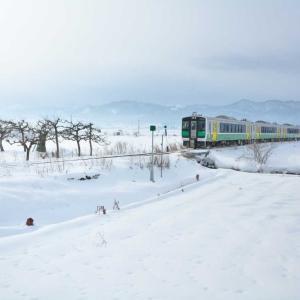 会津盆地の雪は未だ深く
