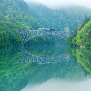 第一只見川橋梁、そして若宮駅へ