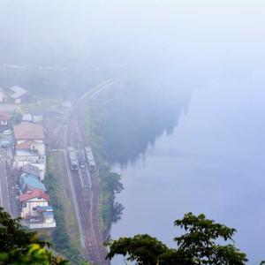 只見川、暑くて晴れると川霧は立ちません