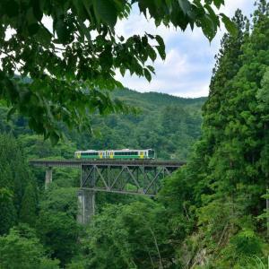 久しぶりの滝谷川橋梁
