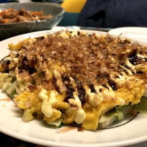 ≪ふたりご飯≫お腹いっぱい!とん平焼き風