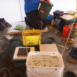 わかさぎ釣り開幕戦。糠平湖