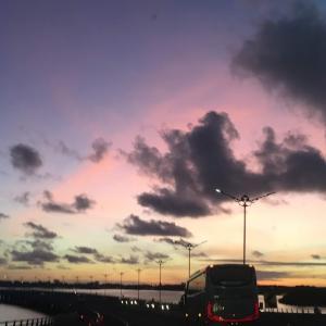 バリ島高速道路からの景色