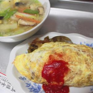 【函館グルメ】入舟町の「満腹食堂」で出前!オムライスが昔ながらで美味しい♡