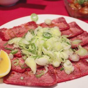 西野「焼肉サラン」のネギ塩牛タン(上)が感動的な柔らかさと美味しさ♡行きつけです!