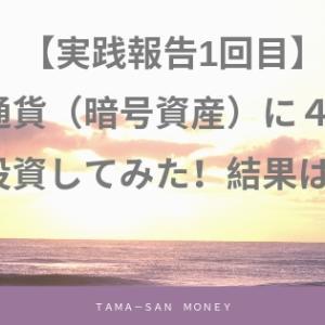 【実践報告1回目】仮想通貨(暗号資産)に46万円投資してみた!結果は?