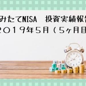 つみたてNISA 投資実績報告 2019年5月(5ヶ月目)