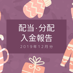 【まとめ】2019年にもらった配当・分配の合計を公開!