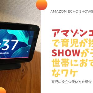 【Amazon Echo Show5】子育て世帯にめちゃくちゃおすすめ!育児に便利な使い方紹介