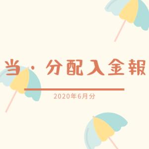 【配当・分配入金報告】2020年6月分は合計25,982円+18.56USD!たくさん入ってほくほく