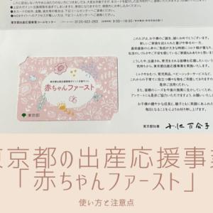 【使い方&注意点】東京都の出産応援事業、赤ちゃんファーストから10万円分のポイントカードが届きました