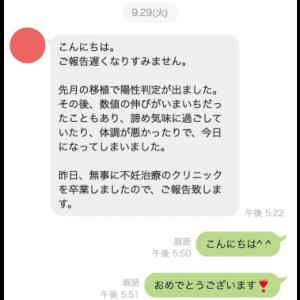 速報【顕微授精】40歳7ヶ月で見事妊娠判定陽性!!