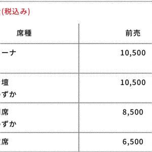 G1CLIMAX30 大阪開幕戦チケット届く