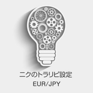 ニクのトラリピ設定(ユーロ/円)と取引実績