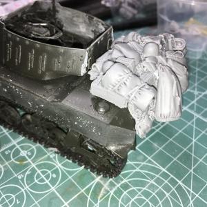 タミヤ:1/35 米陸軍 M8 自走榴弾砲 Vol.4 仮組してみた