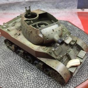 タミヤ:1/35 米陸軍 M8 自走榴弾砲 Vol.11 チッピング等