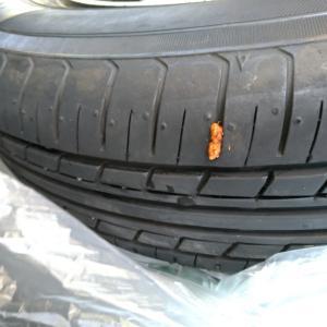 タイヤ修理完了