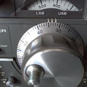 TS-520Vのダイヤル表示