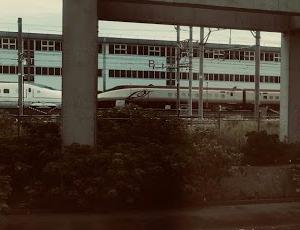 フリーゲージトレインを見た!(長崎新幹線?)