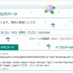 紫陽花が降るブログパーツ
